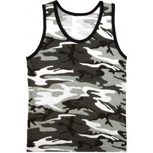 City Camouflage Military Tank Top