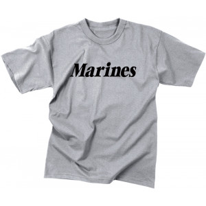Grey Kids Military Marines Physical Training Tactical T-Shirt