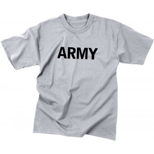 Kids Grey Army Physical Training PT T-Shirt