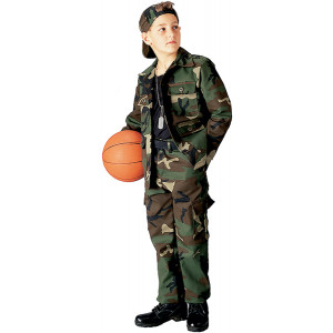 Woodland Camouflage Kids Military BDU Pants