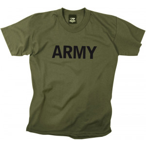 Olive Drab Kids Military Army Physical Training Tactical T-Shirt