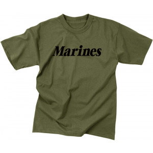 Olive Drab Kids Military Marines Physical Training Tactical T-Shirt