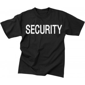 Black Law Enforcement Security 2 Sided Short Sleeve T-Shirt