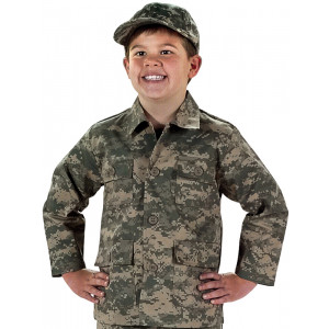 ACU Digital Camouflage Kids Military BDU Shirt
