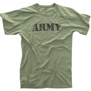 Olive Drab Distressed Army Official Logo T-Shirt