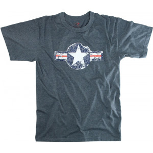 Blue Army Air Corp Star Vintage T-Shirt