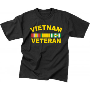 Black Military Vietnam Veteran Short Sleeve T-Shirt