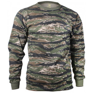 Tiger Stripe Camouflage Tactical Long Sleeve Military T-Shirt