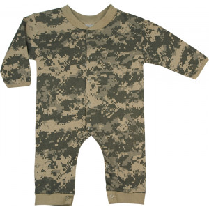 ACU Digital Camouflage Infant Long Sleeve & Legs One Piece Bodysuit