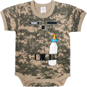 ACU Digital Camouflage Infant Soldier One Piece Bodysuit