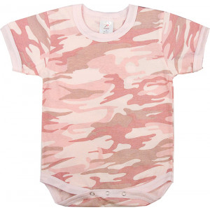 Baby Pink Camouflage Infant One Piece Bodysuit