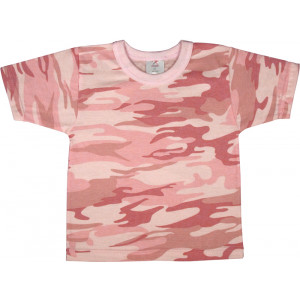 Baby Pink Camouflage Infant Short Sleeve T-Shirt