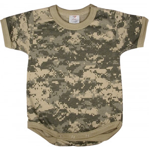 ACU Digital Camouflage Infant One Piece Bodysuit