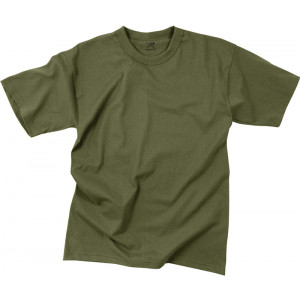 Olive Drab Poly/Cotton Plain Solid Military T-Shirt