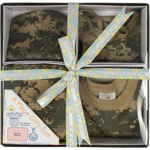 ACU Digital Camouflage Military Style Infant Baby Gift Set