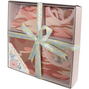 Baby Pink Camouflage Military Style Infant Baby Gift Set