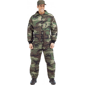 Woodland Camouflage Heavily Insulated Coverall Jumpsuit a9ad3dc3107