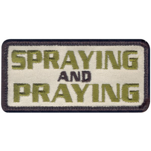 Spraying & Praying Patch With Hook Back