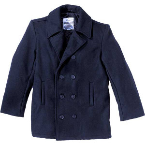 Navy Blue Military US Navy Type Wool Peacoat