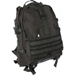 Black Military MOLLE Large Transport Assault Pack Backpack