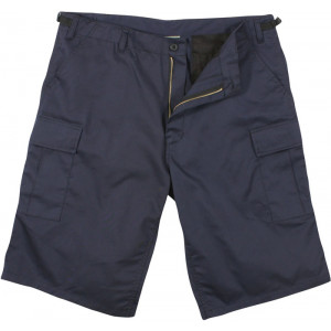 Navy Blue Long BDU Cargo Shorts