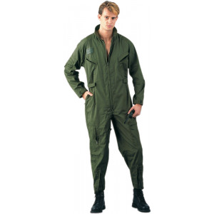 Olive Drab Military Air Force Style Flight Suit Coveralls