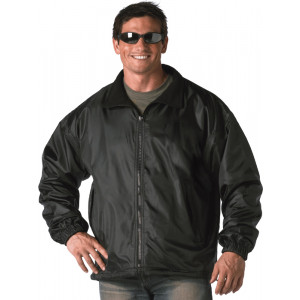 Black Nylon Polar Fleece Reversible Jacket