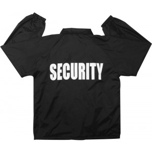 Black Law Enforcement Security Lined Coaches Uniform Jacket