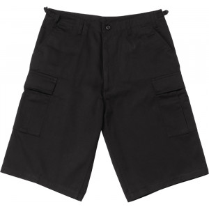 Black Long Combat Military Cargo BDU Shorts