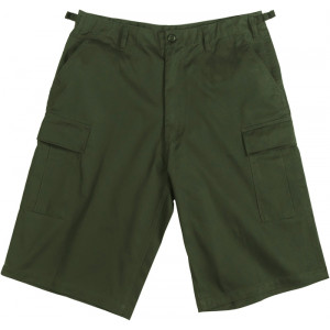 Olive Drab Military Long BDU Cargo Shorts