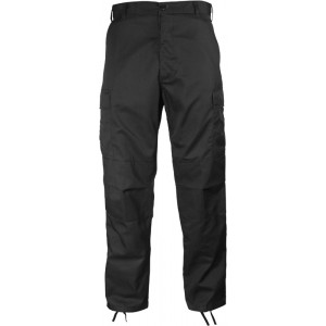 Black Military Cargo Polyester Cotton Fatigue BDU Pants 0eb7683d9a4