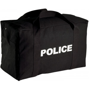 Black Double Sided POLICE Logo Equipment Gear Bag