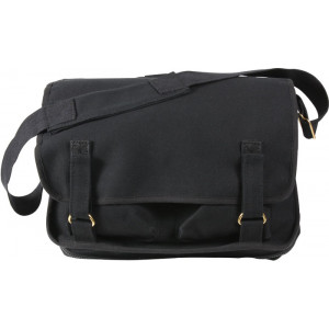 Black European School Messenger Shoulder Bag