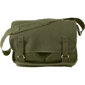 Olive Drab European School Messenger Shoulder Bag