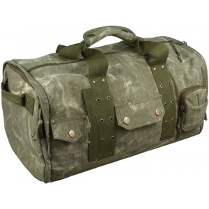 Olive Drab Stone Washed Heavyweight Infantry Travel Bag