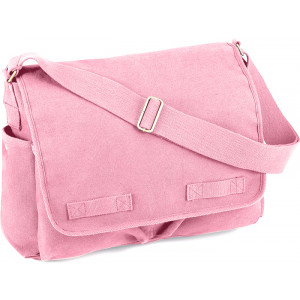 Pink Heavy Weight Classic Messenger Shoulder Bag