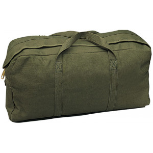 Olive Drab Military Jumbo Canvas Tanker Tote Tool Bag