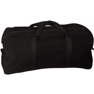 Black Military Jumbo Canvas Tanker Tote Tool Bag