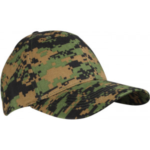 Woodland Digital Camouflage Supreme Military Low Profile Baseball Cap