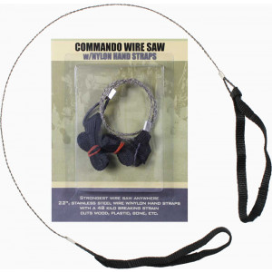 Stainless Steel Commando Wire Saw With Nylon Hand Straps