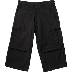 Black Military Capri Rip-Stop Fatigue BDU Pants