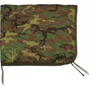 Woodland Camouflage Rip-Stop Military Tactical Poncho Liner