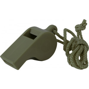 Olive Drab Genuine Official GI Police Whistle