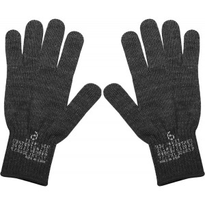 Black Military D-3A Wool Glove Liners USA Made