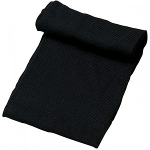 Black Military Winter Wool Neck Warmer Scarf