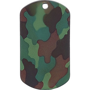 Woodland Camouflage Dog Tag