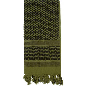 Olive Drab Shemagh Heavyweight Arab Tactical Desert Keffiyeh Scarf