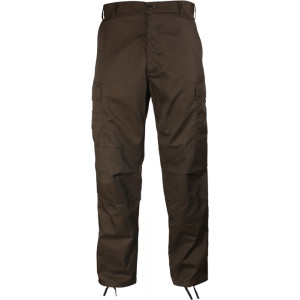 Brown Military BDU Cargo Polyester/Cotton Fatigue Pants
