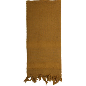 Coyote Brown Solid Shemagh Heavyweight Arab Tactical Desert Keffiyeh Scarf