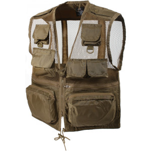 Coyote Brown Military Mulit-Pocket Recon Vest